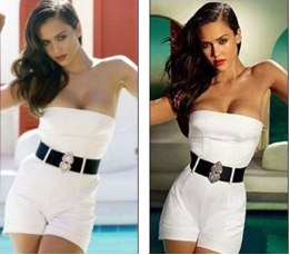 Even Jessica Alba, named sexiest woman in the world more than once, isn't immune to retouching.