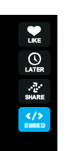 Vimeo embed button