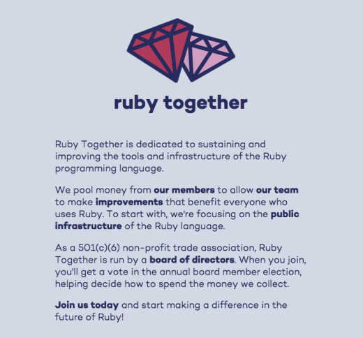 screenshot of rubytogether.org